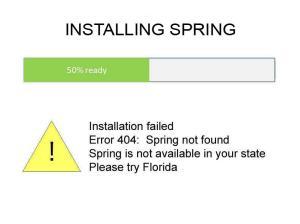 Spring FAIL